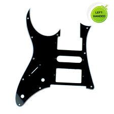 Left Handed Custom Guitar Pick Guard for Ibanez RG 350 DX ,3ply Black