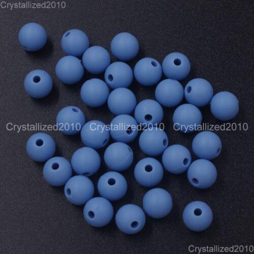 Wholesale Bpa-Free Caoutchouc Silicone Rond Bracelet Collier connecteur 9 mm PERLES