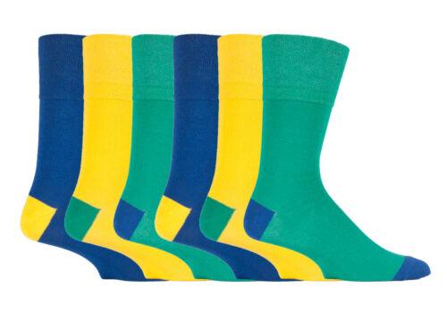 3 6 12 PRS da uomo Sockshop Cotone Gentle grip uk6-11 eu39-45 Sock NUOVO colourburst