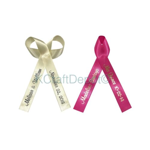 200 Personalized Ribbons 5/8(16mm) Wedding Birthday Party Baby Shower Favors