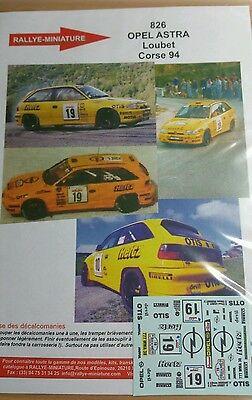 Bello Decals 1/43 Ref 0826 Opel Astra Gsi Loubet Rallye Tour De Corse 1994 Rally Wrc