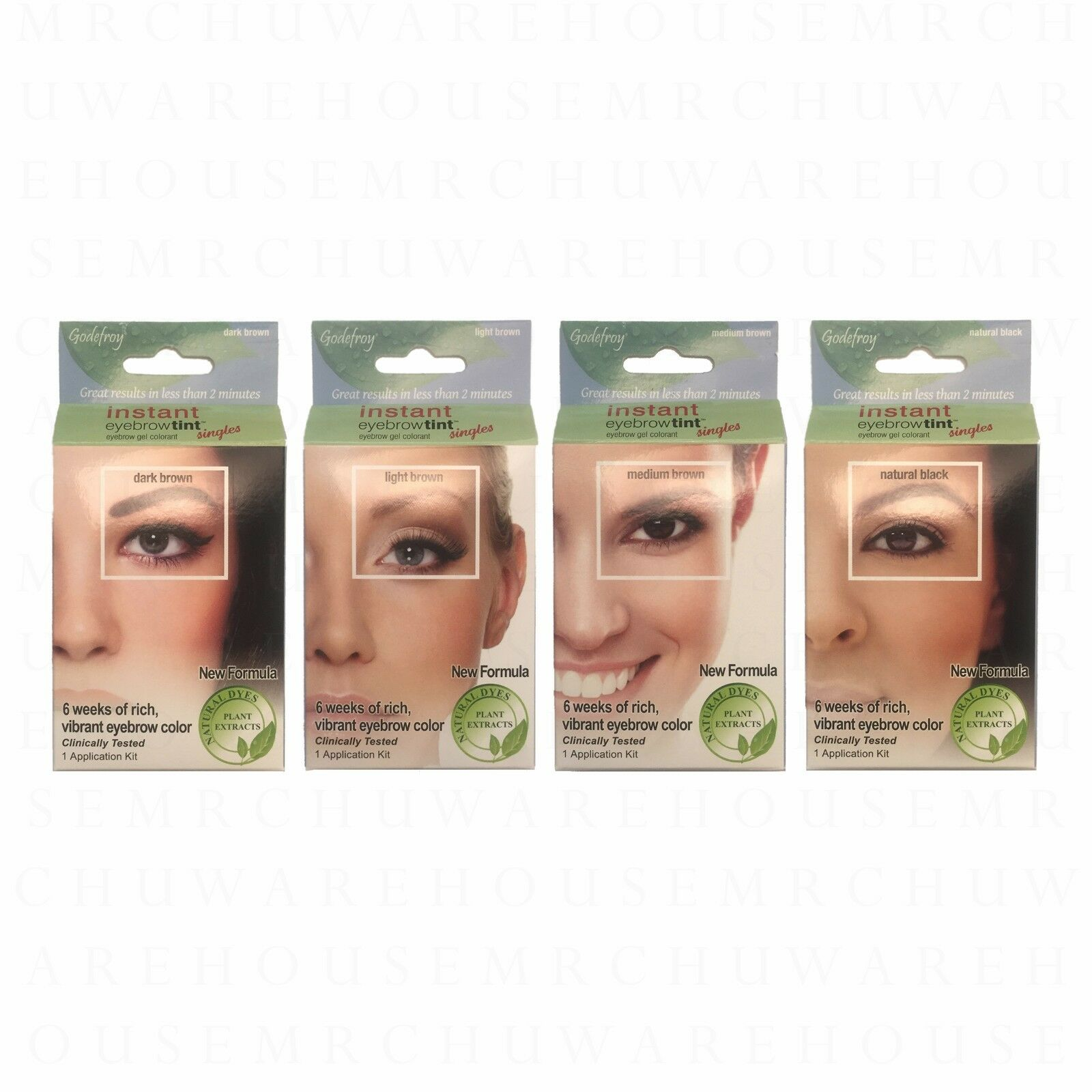 Godefroy Instant Eyebrow Tint Dark Brown 1 Application Kit Ebay