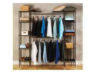 Image Is Loading Closet Organizer Systems Hanging  Shelves Kit Bedroom Storage