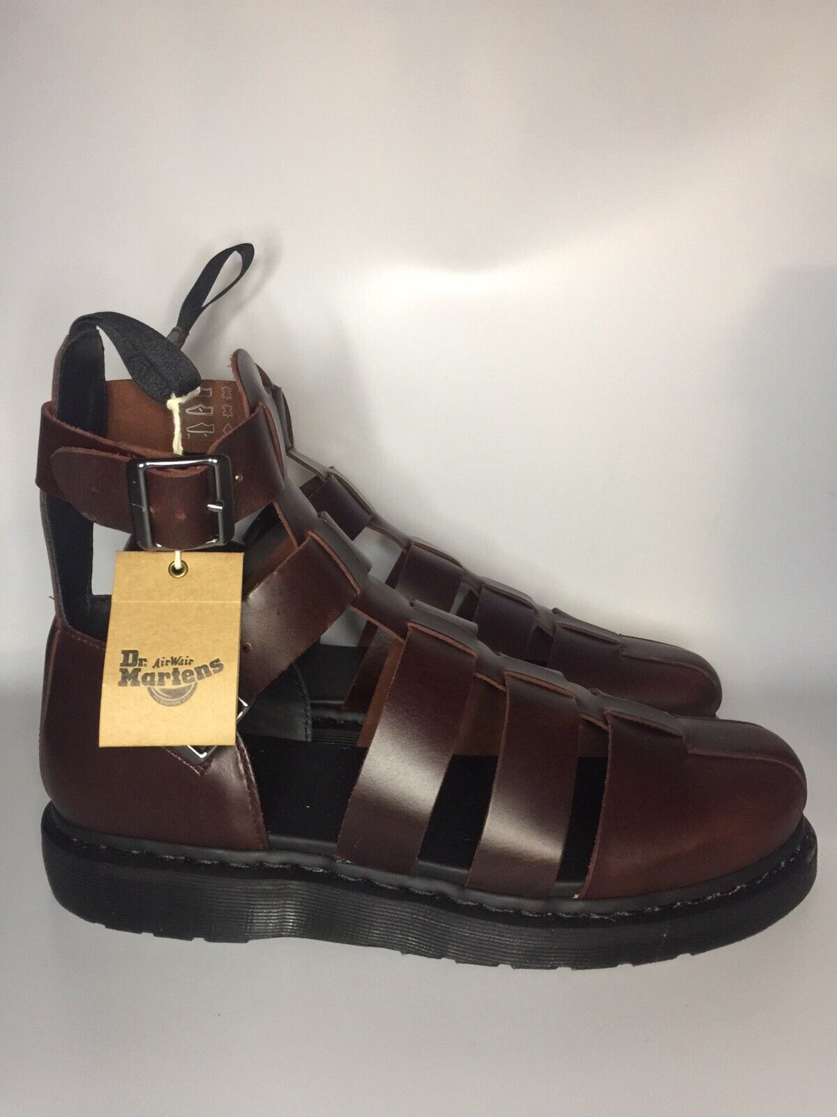 New Dr Martens Airwair Brown Leather Shoes Mens Size 14 (AW004)