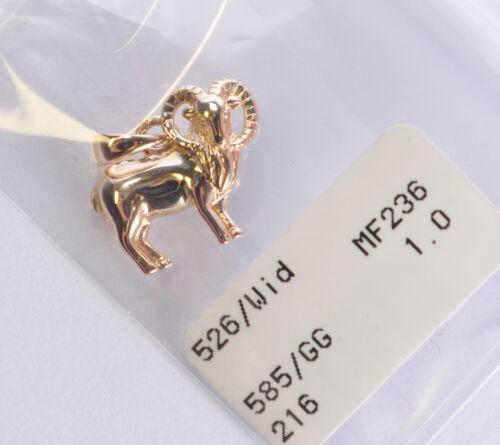 Widder Gelbgold 585 Gold Sternzeichenanhänger Anhänger Sternzeichen !!