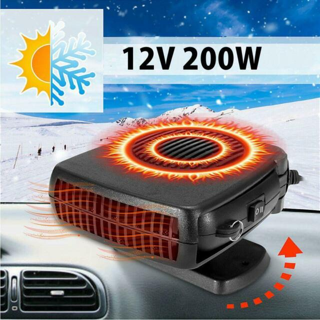 Mini 12V Car Heater Portable Vehicle Heating Cooling Fan Defroster Demisters Hot