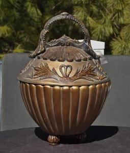 NWT-John-Richard-Ornate-Gold-Covered-Bowl-Dish-Urn-5525