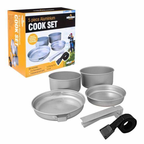 Milestone Camping 1 en 5-Aluminium Cook Set avec Universal couvercle 63920