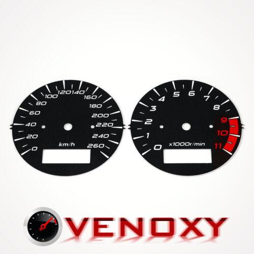 Suzuki GSX 1400 KM//H Aftermarket Instrument Cluster Black Gauge Faces