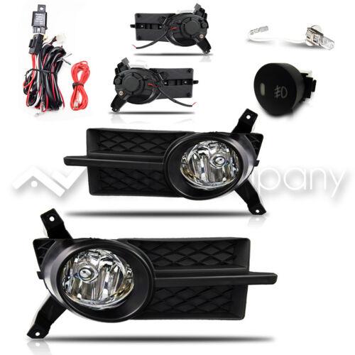 07-08 Pontiac G3 Fog Lights w//Wiring Kit Black Cover 07-11 Aveo 4Dr
