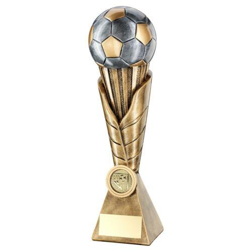 3D FOOTBALL Gold /& Silver Award Fantastique Valeur-Gravure Gratuite 4 Tailles RF611