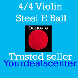 Pirastro Obligato Violin Strings Set 4/4 Steel Ball End