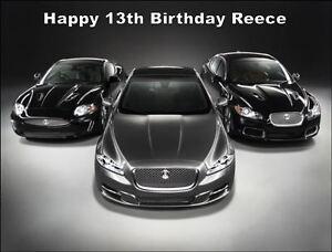A4 Jaguar Sports Car Edible Icing Birthday Cake Topper 7426763479083