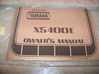 Yamaha Genuine Xs400e Owners Manual