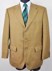 KAISER DESIGN UK Wool 44S Coat CHECK Blazer Brown Short 54 0Nwm8Ovn