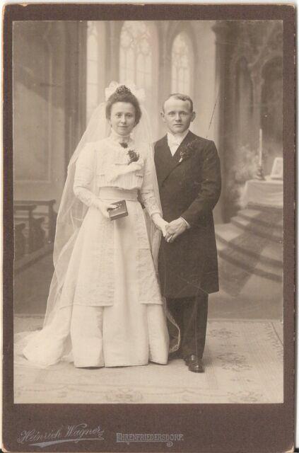 CAB photo Schönes Hochzeitsbild - Ehrenfriedersdorf um 1910