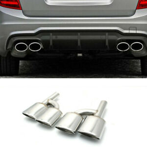 For Mercedes-Benz C-Classs W204 C300 C350 C63 AMG Style Exhaust Muffler Pipe Tip