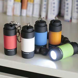 Pocket LED Flashlight Keyring - USB Rechargeable - No Batteries Required