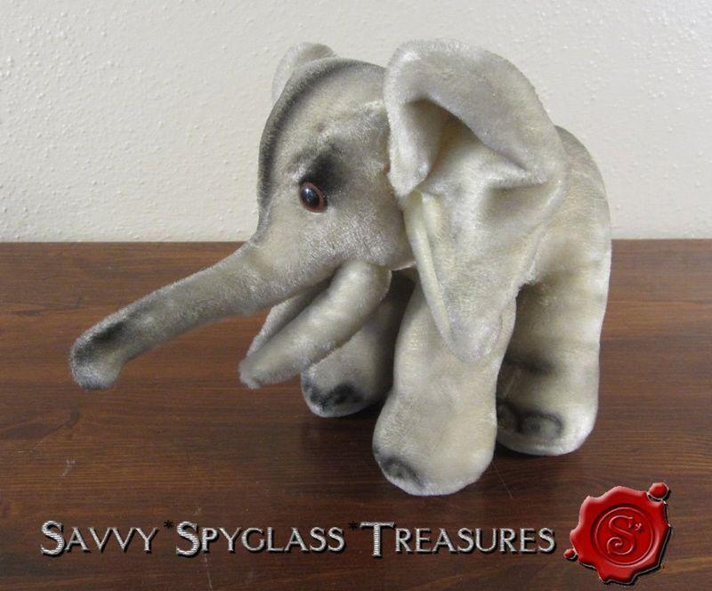 Vintage Kamar Japan Stuffed Elephant Plush Toy