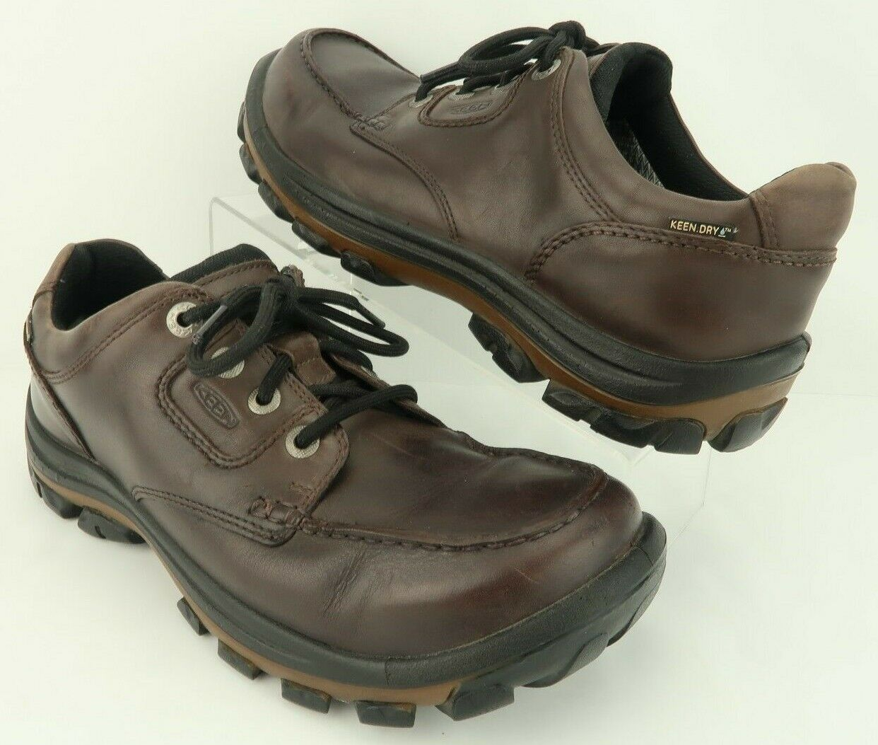 KEEN Dry NOPO Waterproof Brown Leather Lace-Up Hiking Trail shoes Men's US 10