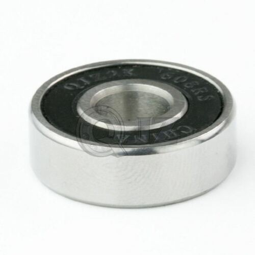 4x 608 Ball Bearing ABEC-3 8mm x22mm x 7mm Rubber Seal Ball Bearing Skate Board