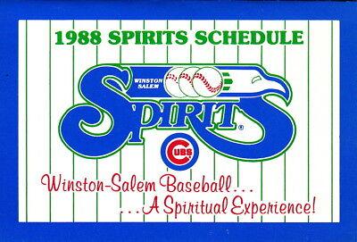 Nabisco Winston-Salem Warthogs 1996 Minor Baseball Pocket Schedule