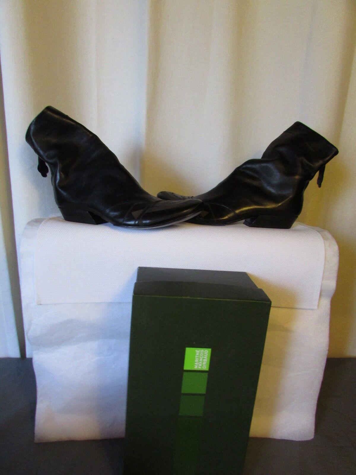 Boots bottines  marithé françois girbaud cuir black 37