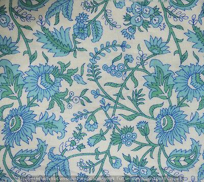 1 Yard Indian Hand block Print Running Loose Cotton Fabrics Printed Decor Art