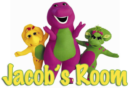 BARNEY AND FRIENDS NAME PERSONALIZED DOOR WALL ROOM POSTER CUSTOMIZED 144