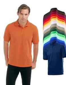 Hanes-G100-Mens-Heavyweight-Chunky-Plain-Cotton-Beefy-Polo-Golf-Sports-Shirt