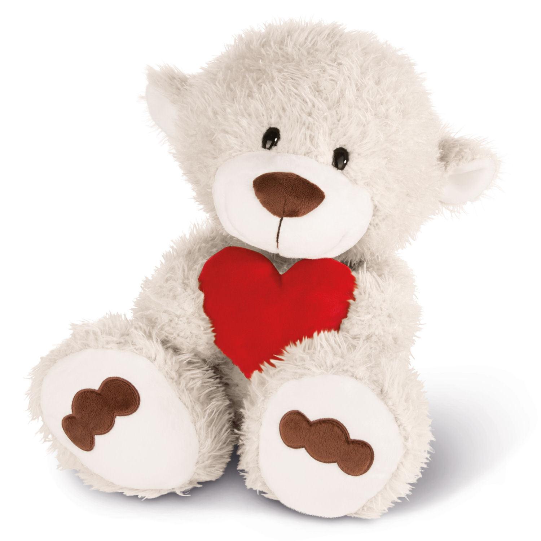 NICI NICI NICI Schlenker Love-Bär weiß mit Herz 42609 - NICI Kuscheltier Love Bär 50cm 682b32