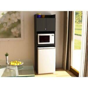 Details About Mini Fridge Storage Microwave Cabinet Organizer Cart Apartment Dorm Kitchen Work