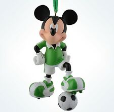 disney parks christmas mickey mouse soccer resin ornament new with tag