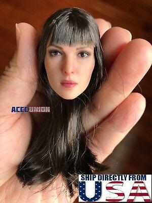 "1//6 Fairy Female Head Sculpt Detachable Ears PALE For 12/"" PHICEN Figure ☆USA☆"