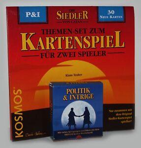 Die-Siedler-von-Catan-Politik-amp-Intrige-P-amp-I-30-Spielkarten-Kartenspiel-neu
