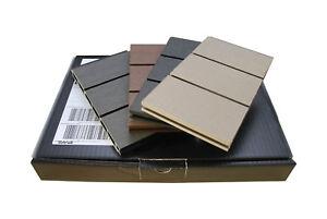 WPC-Sichtschutzzaun-Musterpaket-4-Farben-Anthrazit-Stein-Grau-Braun-Beigegrau