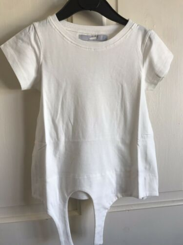 BNWOT Next Short Sleeved Tie Front Top White Girls Age 5 or 7 Years