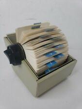 Vtg Bates Tan White Sr24c Rolodex Style Rotary Address Business Card Holder