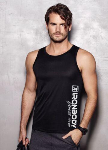 Muskelshirt atmungsaktiv Trainings Shirt Ironbody Active Sports Tank Top
