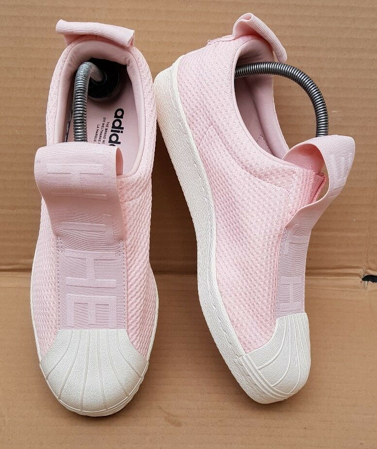 BNWOB ADIDAS SUPERSTAR 80's SLIP ON IN ICY PINK SIZE 7 UK BRAND NEW LATEST STYLE