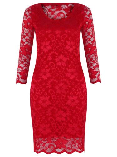 Women Ladies Dress Lace Top Mini Dress Skater Cute Casual Party Dress Size 8-12