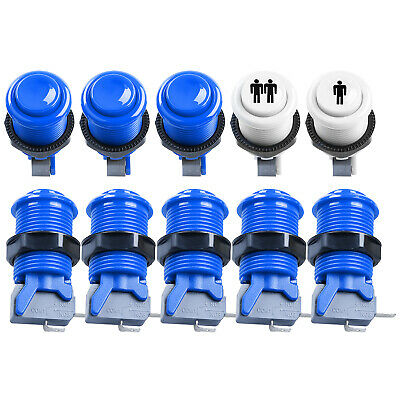 8 pcs//Lot Happ Style Arcade Push Button with Microswitch for MAME JAMMA 6 Colors