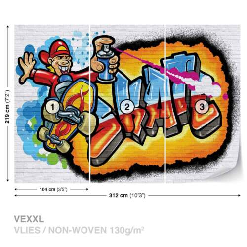 3052WS FOTOTAPETE VLIES FOTOMURAL XXL Graffiti Skate