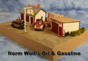 Wolf-039-s-Oil-amp-Gas-an-HO-Scale-Craftsman-Structure-from-Railroad-Kits-Fun-amp-Easy