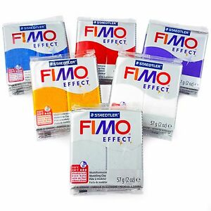 FIMO-Effect-Polymer-Oven-Modelling-Clay-57g-Set-of-6-Glitter-Finish