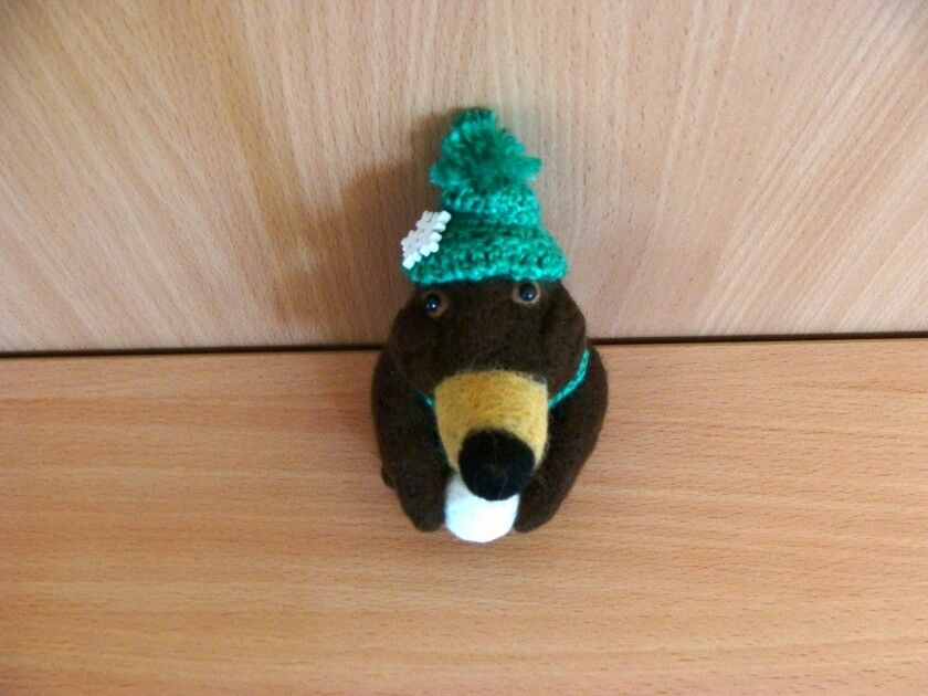 Needle Felt Funny Mole Mole Mole Toy Collectable Animals  Kids Decor Handmade Toy Gift 09c81c