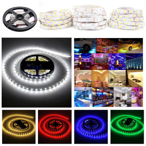5M-10M-12V-Non-Waterproof-300-LED-Strip-Light-5050-SMD-String-Ribbon-Tape-Roll