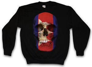 del del bandiera cranio del bandiera cranio del della La Cambogia classica della bandiera della maglione cranio R4xnY1q