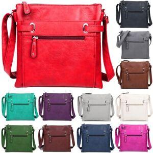 Ladies-Faux-Leather-Cross-Body-Messenger-Bag-Women-Shoulder-Tote-Satchel-Handbag