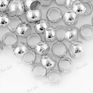 500x-2mm-400x-3mm-200x-4mm-CRIMP-BEADS-CHOOSE-SILVER-or-GOLD-plated